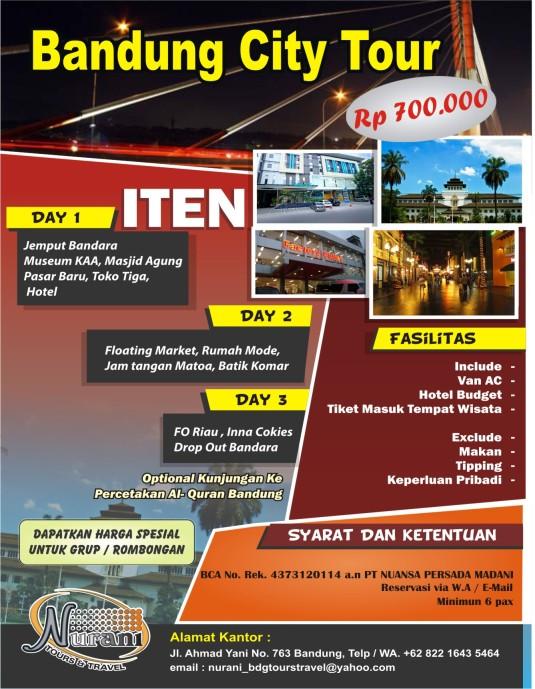 bandung city travel IDR